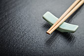 Bamboo chopsticks with copy space