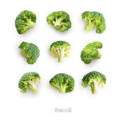 Seamless pattern with broccoli.