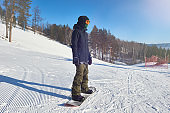 Modern Young Snowboarder