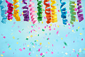 Confetti background for Christmas or birthdays