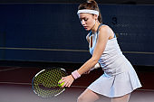 Female Tennis Player at Practice