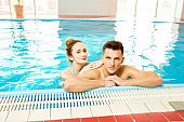 Beautiful Couple in Pool