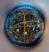 Aerial view Hong Kong Night
