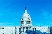 The United States capitol building, Retro Style