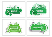 Ecology connection  concept background  Vector infographic illustration