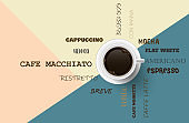 Vector background with coffee beans. 3d illustration.