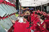 Jeonju Korean Traditional Music Group playing the ancestral ritual music