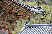 The roof of a Oeosa Temple in Pohang, South Korea