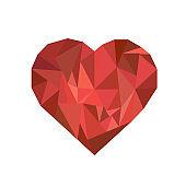 Heart .geometric figures. vector