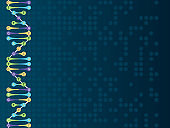 DNA Strand Background