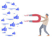 The power of influencer marketing is like the magnetic field that drags customer's like icons to the business