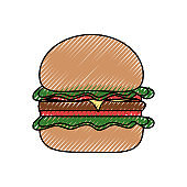 burguer   vector illustrati