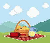 picnic basket with snack design