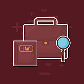 law book and portfolio icon