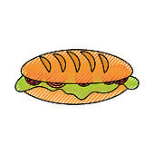 sandwich  vector illustratio