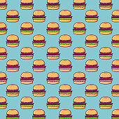 hamburger background design
