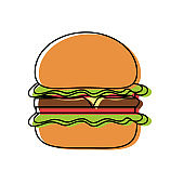 burguer vector illustration
