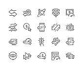 Line Traffic Icons