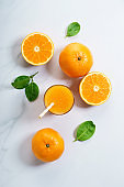 Fresh sliced orange