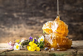 Honey - Flowers with Honeycomb