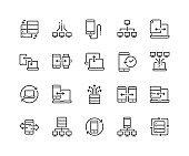 Line Data Exchange Icons