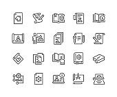 Line Technical Documentation Icons