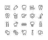 Line Dentist Icons