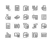 Line Calculation Icons