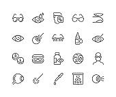 Line Optometry Icons