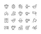 Simple line icon set