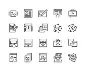 Line Web Content Icons