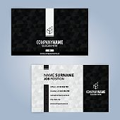 Black and White modern business card template