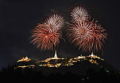 fireworks display for celebrations Phra Nakhon Khiri.Phetchaburi