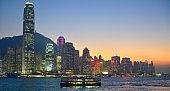 Hong Kong panorama in the evening