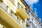 Historic Buildings and Apartements in Karlovy Vary Town near Prague