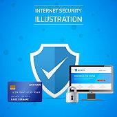 Banner / Internet, server, credit card security