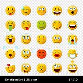 Creative emoticons / 25 icons