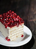 Pomegranate cake for two