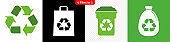 Recycling icons / 4 files in 1