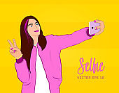 Selfie with smartphone / Young woman