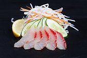 Red sea bream sashimi, traditional japanese food