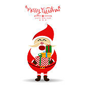 Merry Christmas with Santa Claus. Vector illustration