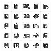 Icon set - book filled icon style vector illustration on white background