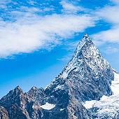 Mountain peak Dombay. National Park, Russia, Karachay-Cherkessia.