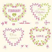 Valentine's Day Floral Frames