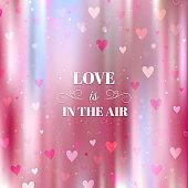 Blurred bokeh Valentines Day background