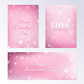 Blurred Valentines Day Banners