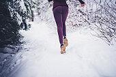 Running in snow day