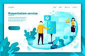 Vector illustration -  man with presentation