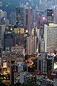 Hong Kong downtown district